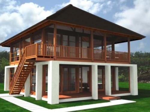 Desain Rumah Kayu Minimalis Sederhana 4 - 26 Desain Rumah Kayu Minimalis Sederhana Terbaru 2018