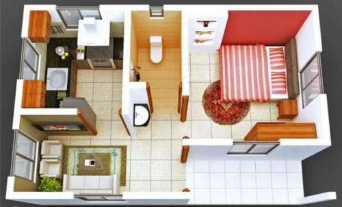 Desain Rumah Minimalis Tipe 21 1 Lantai