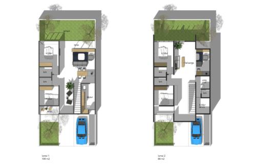 Sketsa Rumah Sederhana Ukuran 7x9 Terbaru - 10 Bentuk Denah Rumah Minimalis Sederhana Ukuran 7x9 Meter