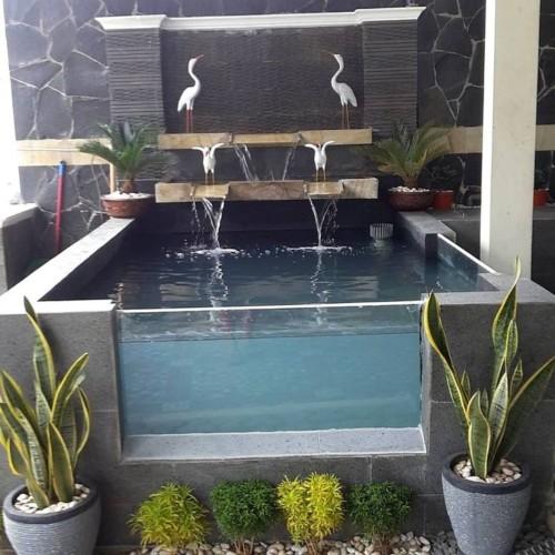 Kolam Ikan Kecil di Teras Depan Rumah 24 - 30 Desain Kolam Ikan Minimalis Kecil di Halaman Rumah