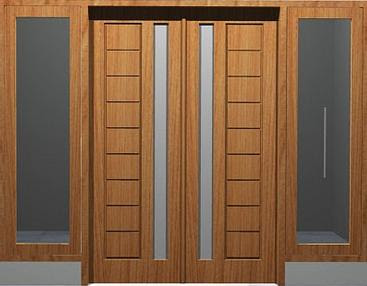 Kusen Pintu Kayu Minimalis 5 - Tips Memilih Pintu Rumah Minimalis & 50++ Contoh Desain.