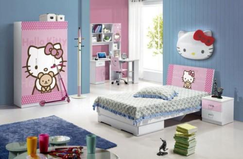 Desain Gambar Kamar Tidur Hello Kitty Anak Perempuan 14 - 25 Desain Gambar Kamar Tidur Hello Kitty Anak Perempuan