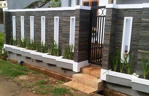 Model Pagar Tembok Minimalis 2 - 20 Model Pagar Tembok Minimalis untuk Rumah Terbaru 2018