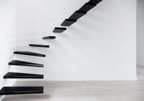 Desain Tangga Besi Minimalis Melayang 2 - 16 Model Tangga Besi Minimalis untuk Rumah Tingkat Terbaru