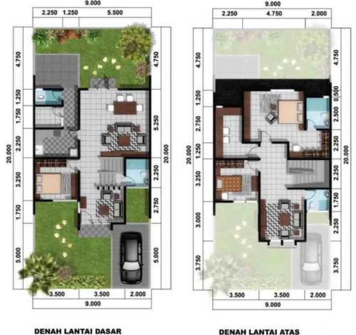 Sketsa Denah Rumah Minimalis Type 45 19 - 21 Sketsa Denah Rumah Minimalis Type 45 Terbaik
