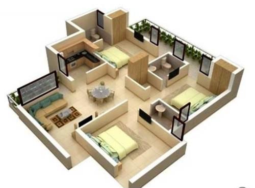 Sketsa Rumah Minimalis Type 45 3D - 21 Sketsa Denah Rumah Minimalis Type 45 Terbaik