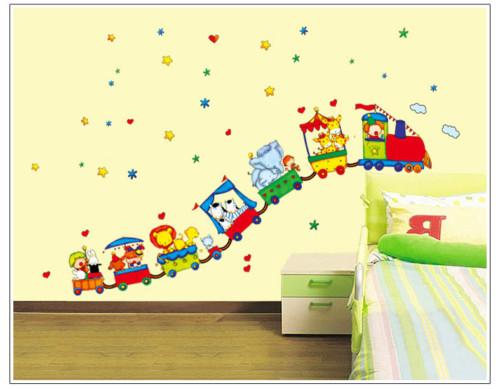 stiker dinding - 12 Desain Stiker Dinding Lucu Kamar Anak Jadi Ceria