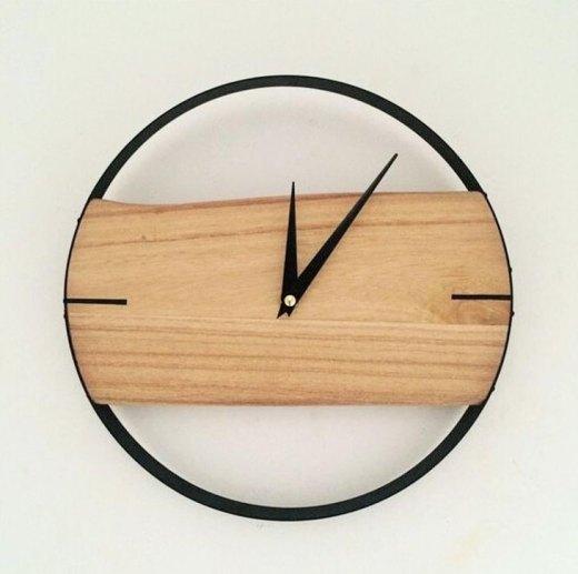 Jam dinding kayu 6 - Inspirasi Dekorasi Interior 🕒 Jam Dinding Minimalis