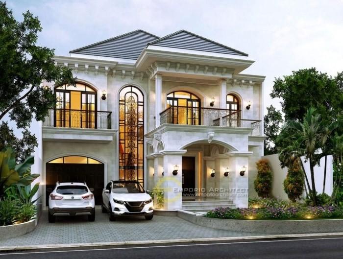 desain atap rumah mewah 2 lantai