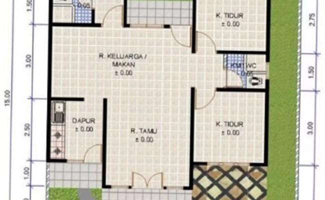 43 Denah Rumah 7 X 10 Paling Populer Lingkar Png