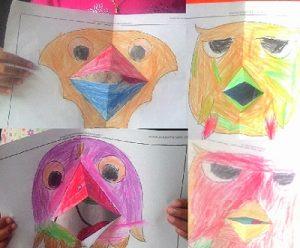 Kreasi lipat kertas Membuat Mulut burung