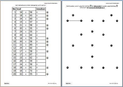Soal Matematika penjumlahan tebak gambar Level 9-1