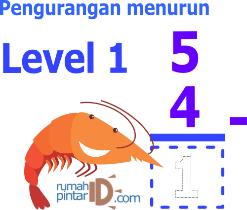 Soal latihan mandiri matematika pengurangan untuk anak SD Level 1