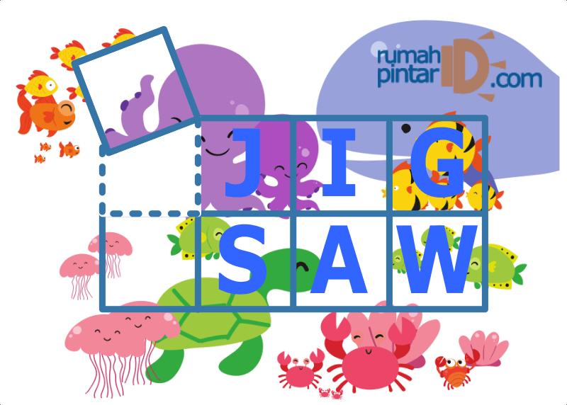 lembar latihan jigsaw puzzle geometri untuk anak cover