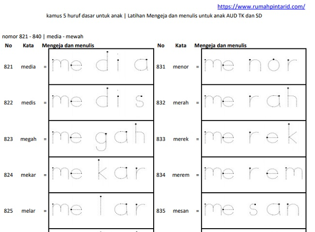 belajar menulis huruf abjad a-z pdf 6