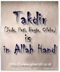Empat hal yang telah ditetapkan oleh ALLAH ta'ala sebelum lahir