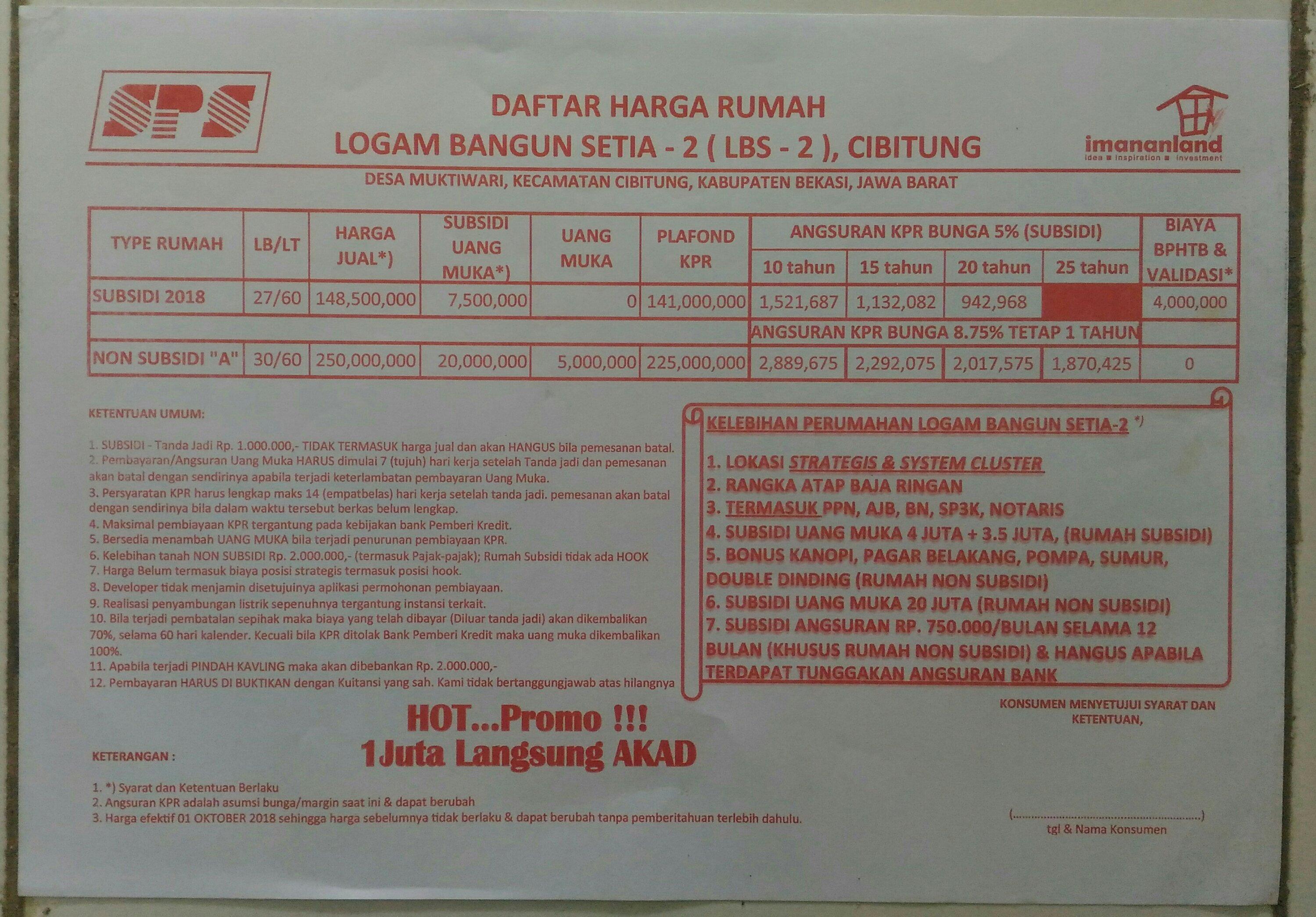 daftar harga baja ringan oktober 2018 logam bangun setia cibitung maz broo property