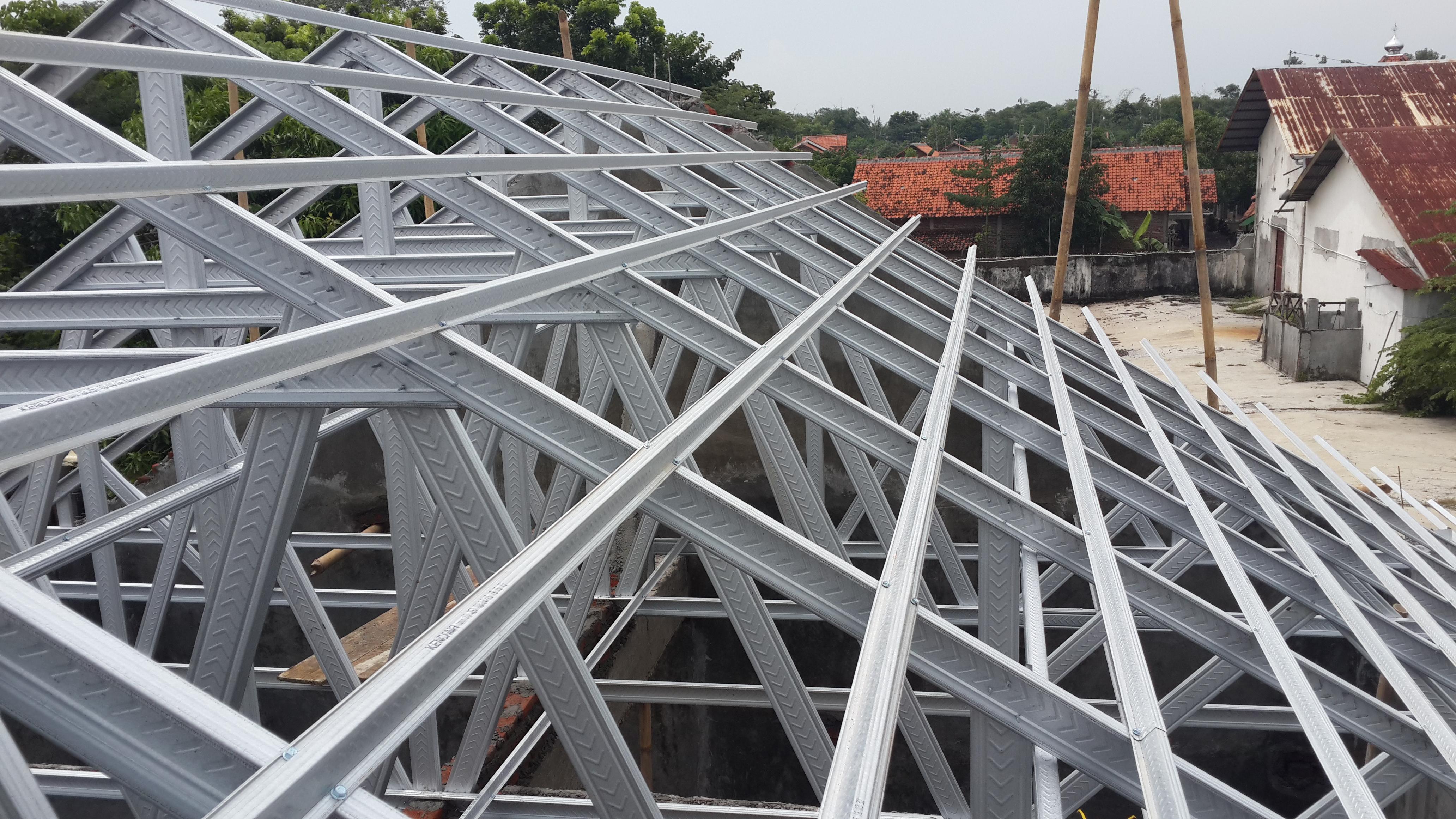 rangka baja ringan untuk atap asbes toko utama pekalongan pusat penjualan