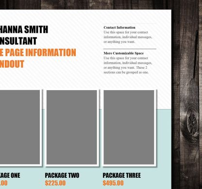 Single Page Brochure Template Rumble Design Store