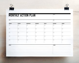printable planner and business templates