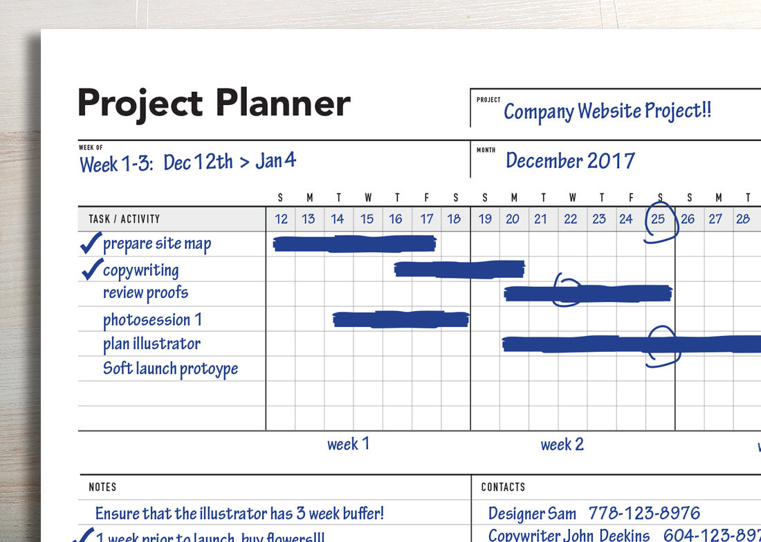 Ultimate project planner gantt chart rumble design store for Home project planner