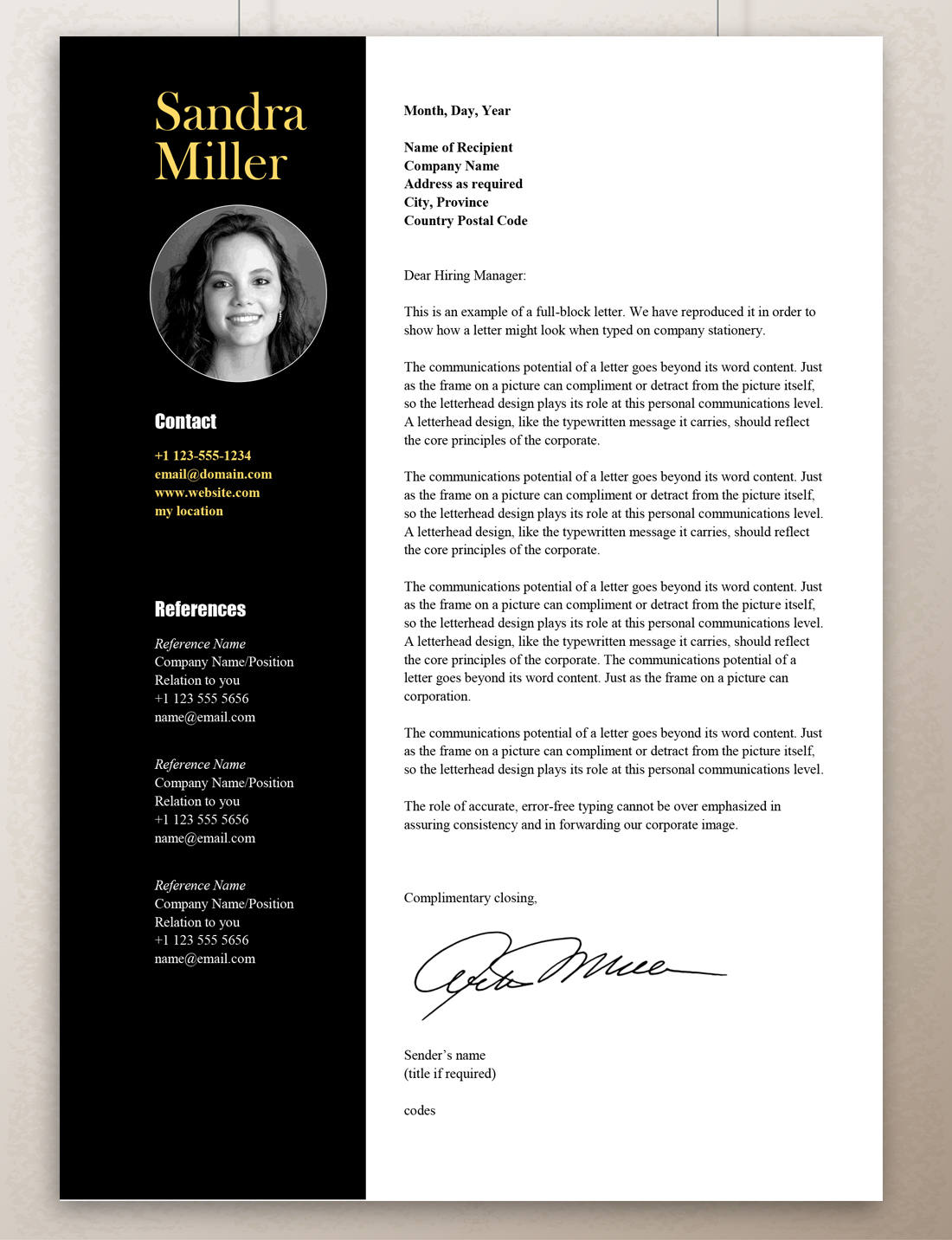 Contemporary Resume Design Contemporary Resume Template Professional Resume Template