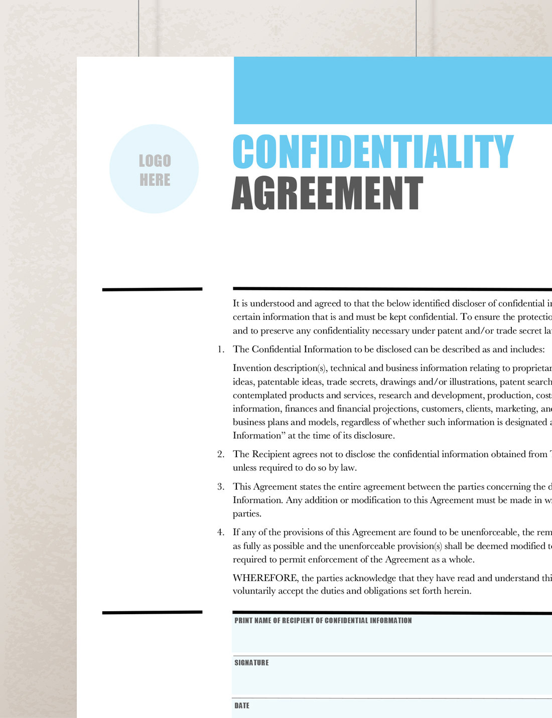 Confidentiality Agreement Non Disclosure Agreement Rumble Design