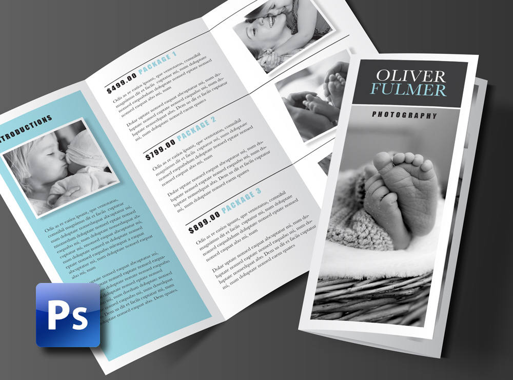 Trifold Brochure Template Photoshop Template Rumble Design Store