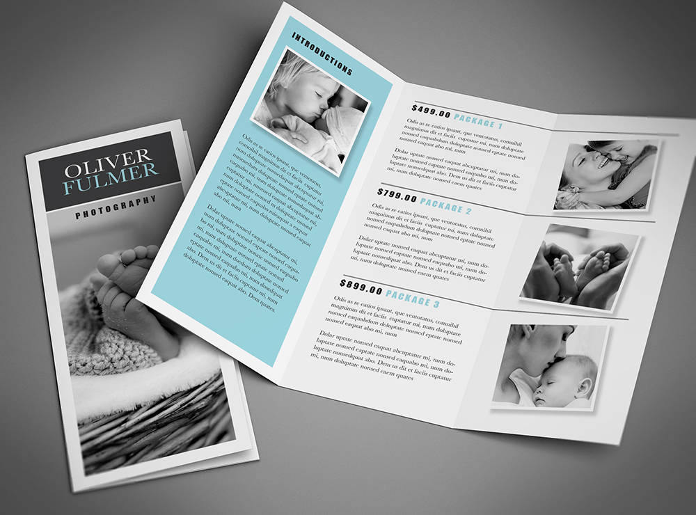 trifold brochure template photoshop template