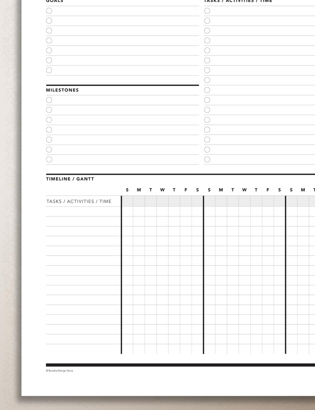 project planner gantt chart rumble design store