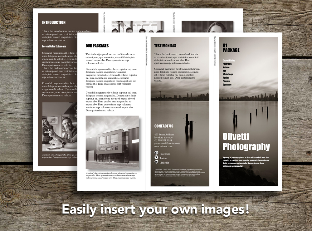 Promotional Trifold Brochure Rumble Design Store