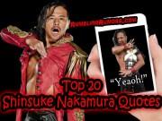 TOP 20 Shinsuke Nakamura Quotes! YEAOH!