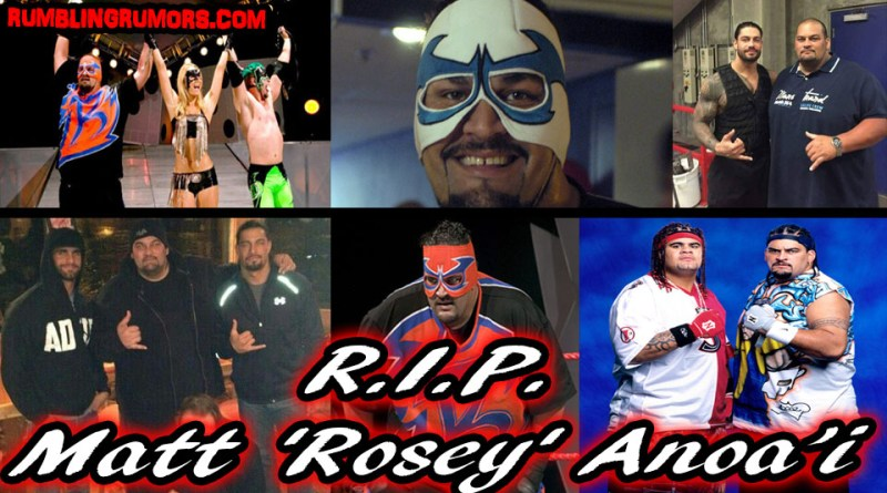 "Roman Reigns Brother & Former WWE Superstar Matt ""Rosey"" Anoa'i Passes Away."