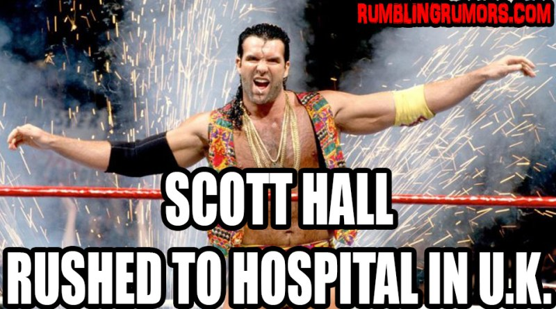 Update: Scott Hall Rushed To The Hospital in Lowestoft, England.