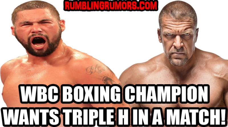 WBC Cruiserweight Boxing Champion Wants a Match With Triple H!