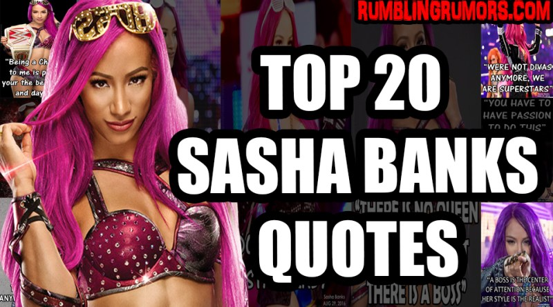TOP 20 SASHA BANKS QUOTES!