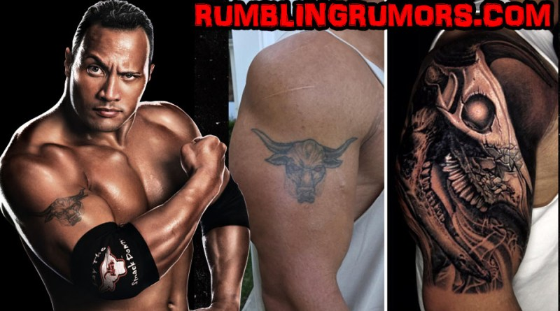 THE ROCK COVERS UP ICONIC BULL TATTOO, R.I.P. To The Brahma bull!