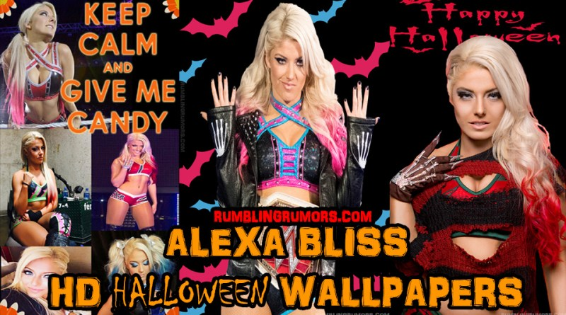 Alexa Bliss Halloween 2017 HD Wallpaper!