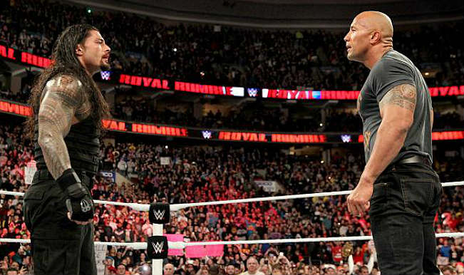 Roman Reigns Calls Out The Rock For A Match At WrestleMania.