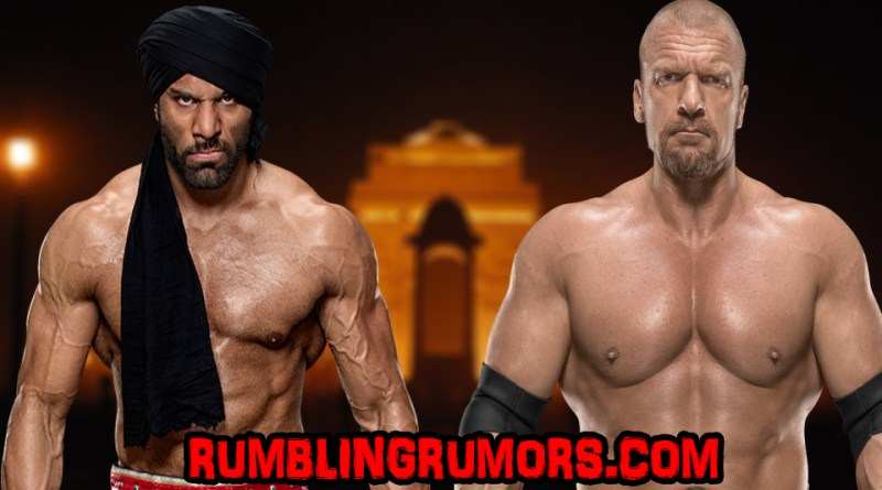 "WWE Confirms Triple H vs. Jinder Mahal For ""Supershow"" On December 9th, 2017!"