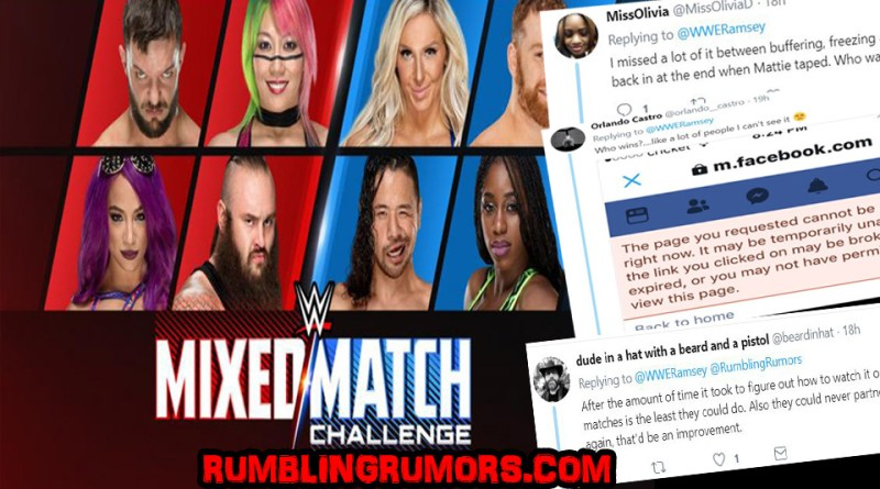 Viewership for The First Ever Mixed Match Challenge & Fans Had Major Problems Trying To Watch it.