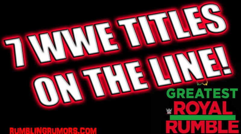 7 WWE Title Matches Announced For The Greatest Royal Rumble in Saudi Arabia!