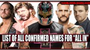 "Rey Mysterio Confirmed For The ""All In"" Event. List Of Confirmed Names So Far."