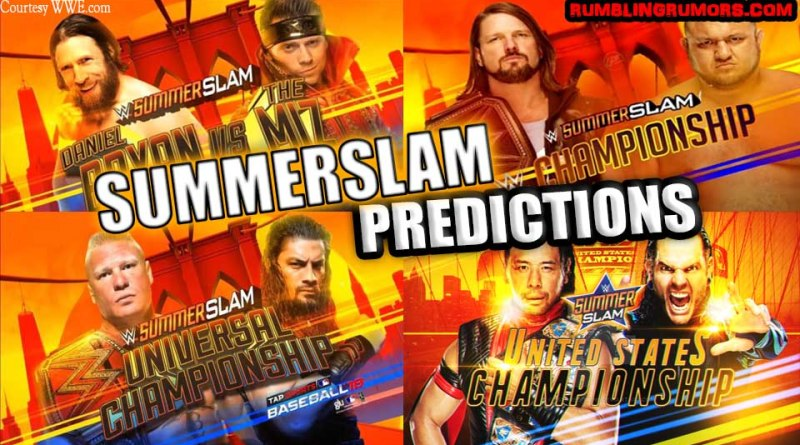 SUMMERSLAM 2018 PREDICTIONS