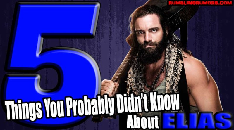 5 Things You Probably Didn't Know About Elias. WWE Superstar Elias and Top 5 weird and Random facts you may have not known about the star before WWE.