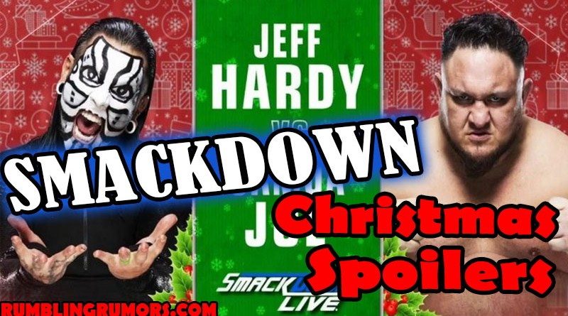 SmackDown Christmas Spoilers. Smackdown Live Christmas Day 2018 Episode. Full Results from Smackdown Live Decemeber 25th 2018.