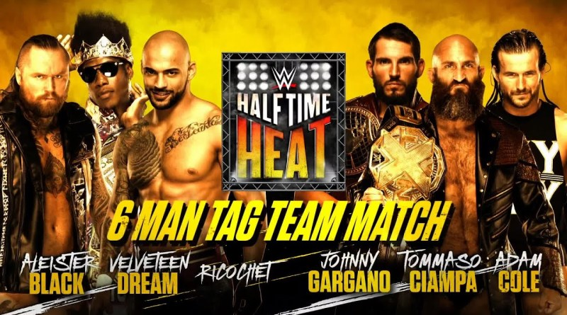 WWE Halftime Heat Start Time, Match Card, Location, How To Watch. WWE Halftime Heat details. World Wrestling Entertainment Halftime Heat.