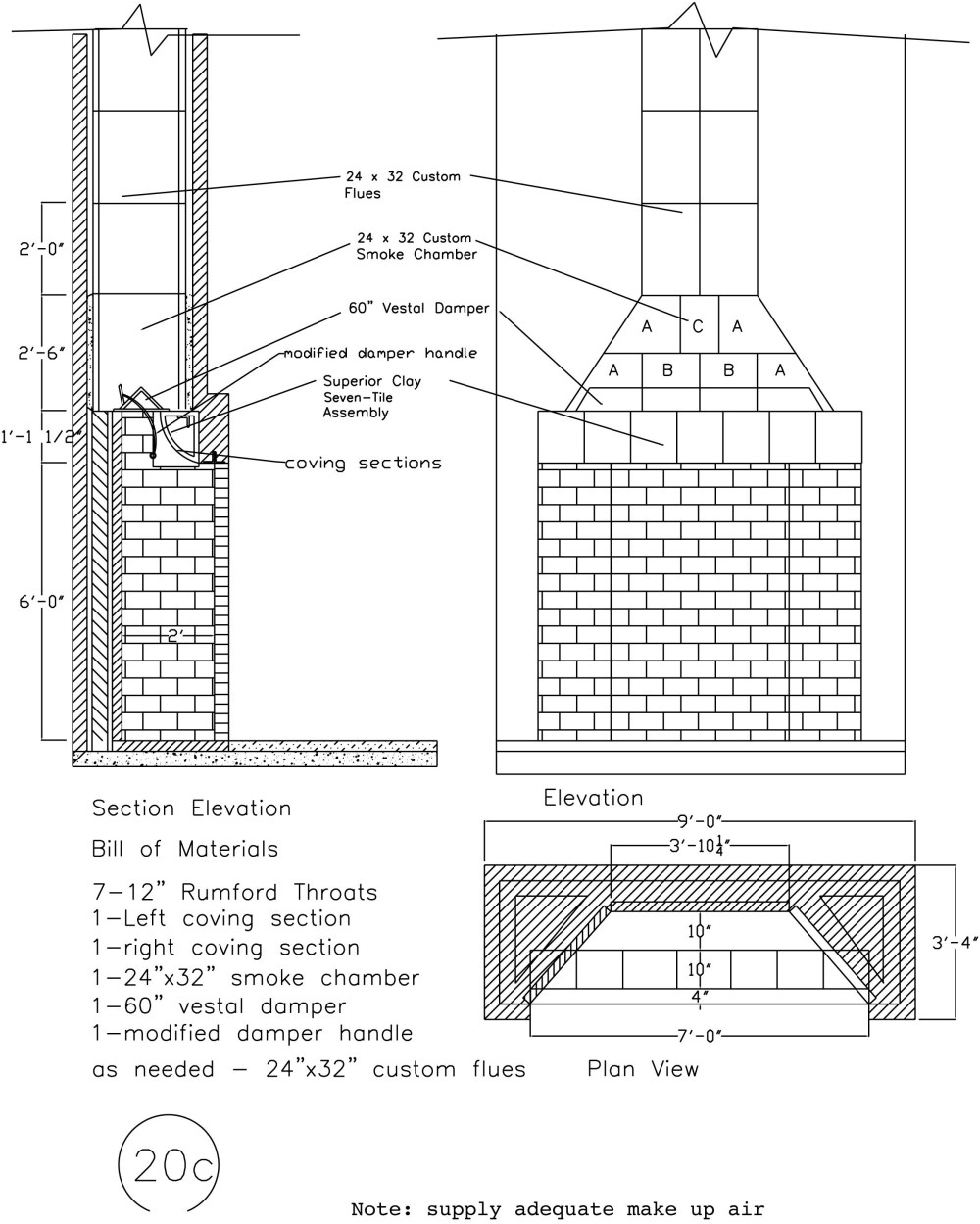 medium resolution of schematic with masonry fireplace dimensions illustration 1950 willys wagon 1952 willys