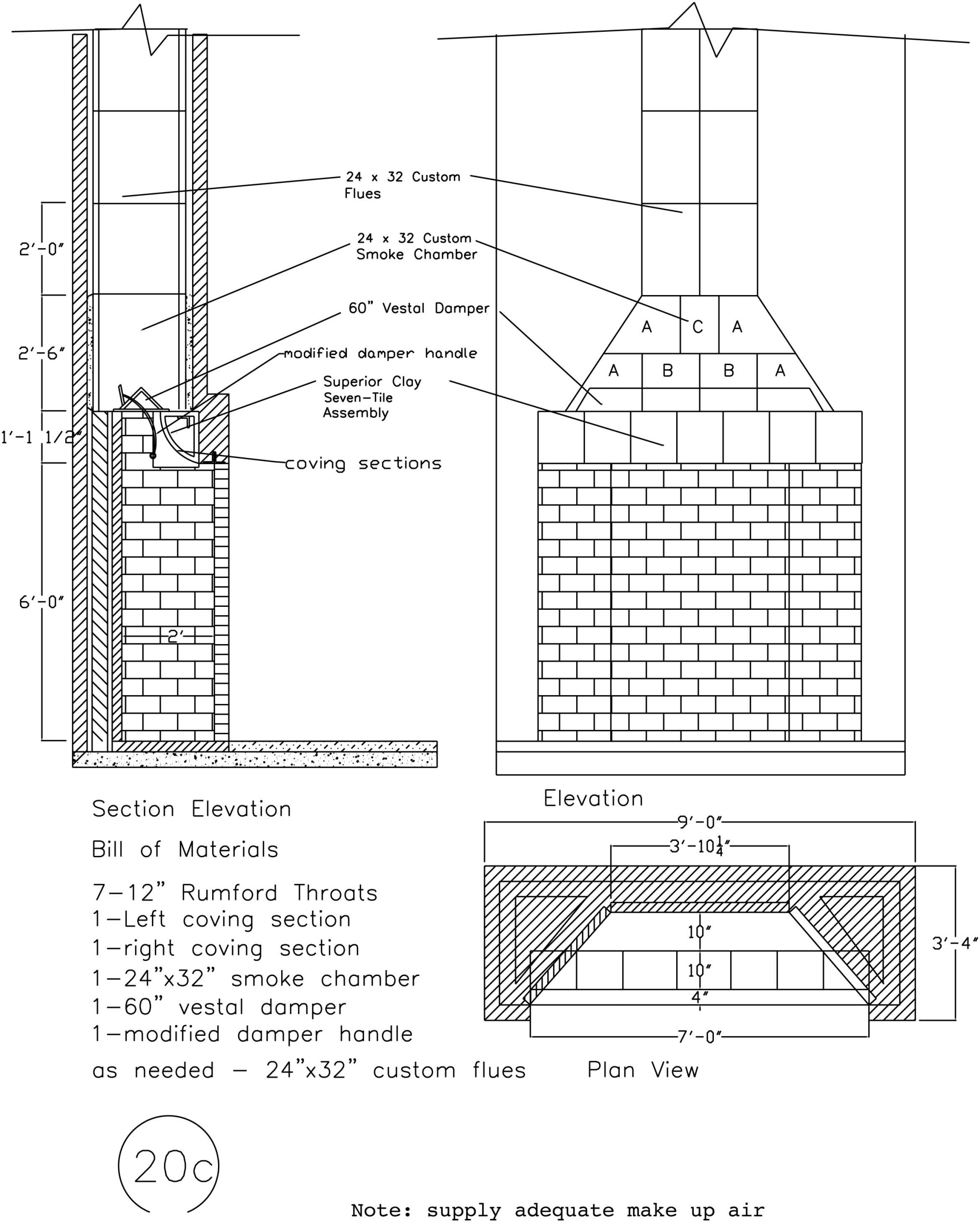 hight resolution of schematic with masonry fireplace dimensions illustration 1950 willys wagon 1952 willys