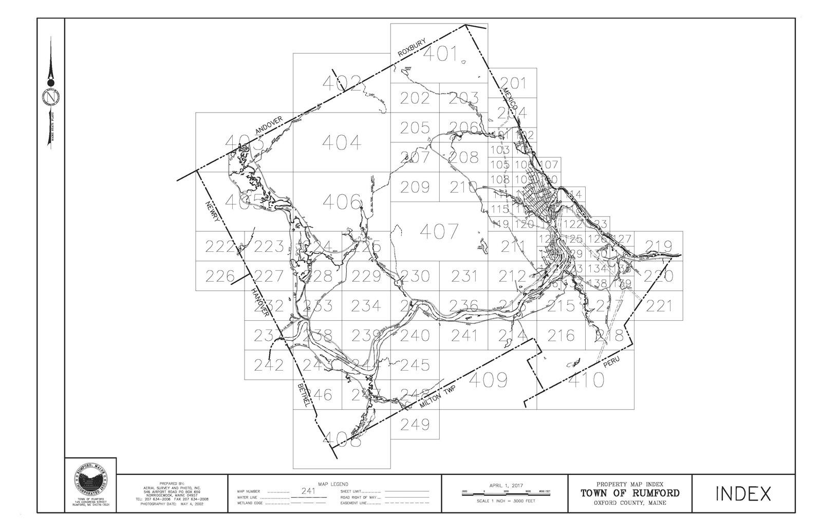 Rumford Map Index